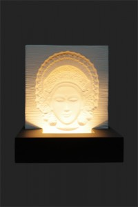 Bali Tari Ivory Base Relief - Black MDF
