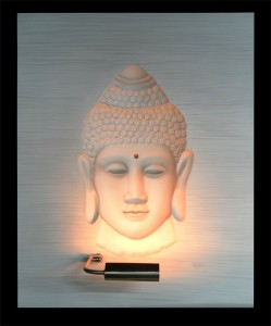 Buddha White Panel Large