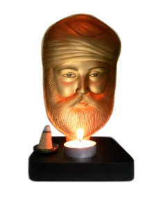 Guru Nanak Gold Mini Sculpture Front Side
