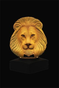 Lion Diamond Black Stone Base