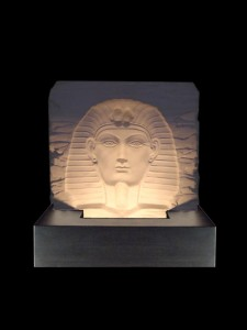 Tuttanchamen Ivory Base Relief - Black MDF