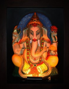 Ganesha ABR Antique Wood Frame