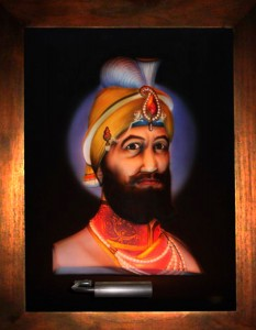 Guru Gobind Singh ABR Antique Wood Frame