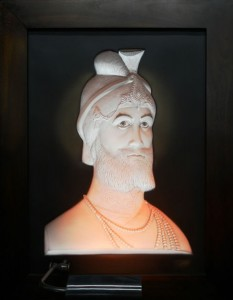 Guru Gobind Singh Ivory Antique Wood Frame
