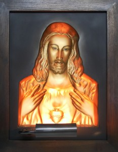 Jesus Gold Antique Wood Frame