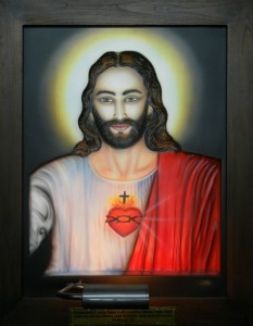 Jesus ABR Antique Wood Frame