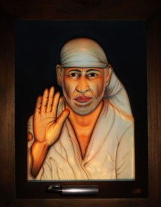 Shirdi Saibaba ABR Antique Wood Frame