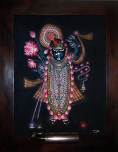 Shri Nathji ABR Antique Wood Frame Large