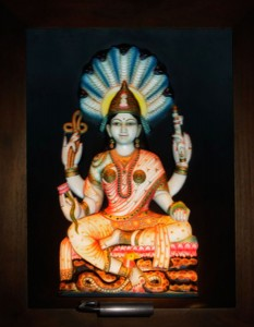 Shri Padmawati Devi ABR Antique Wood Frame