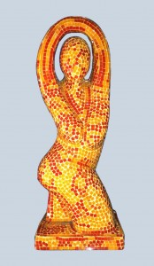 Dancing Woman Red Yellow 67 cm